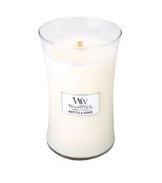 W034 White Tea & Jasmine Large Candle WoodWick®