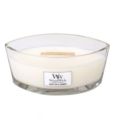 W103 White Tea & Jasmine Ellipse WoodWick® HearthWick Flame®